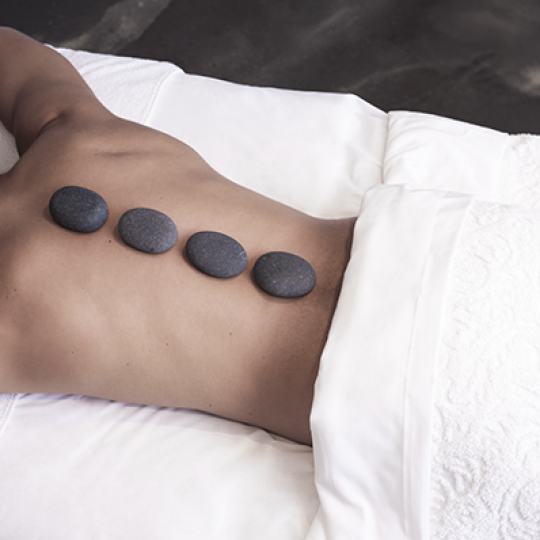 hot stone massage at Rescue pa