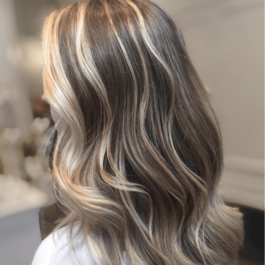 Person with Highlights or Balayage